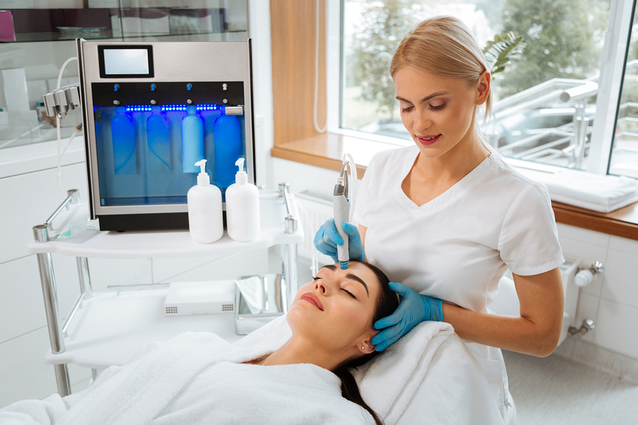 Woman getting a skin treatment